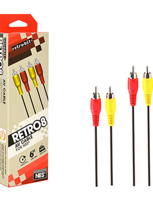 NES - Cable - AV Cable - 2 Prong - Red-Yellow (Retro-Bit)
